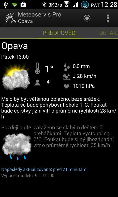 Meteoservis 2.0 pro Android - počasí nové generace