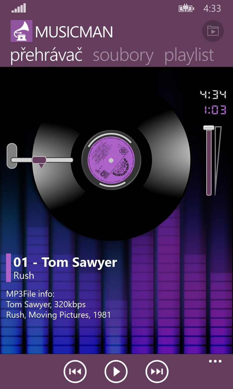 MusicMan 2.10 – rychlé přehrávání hudby ve složkách